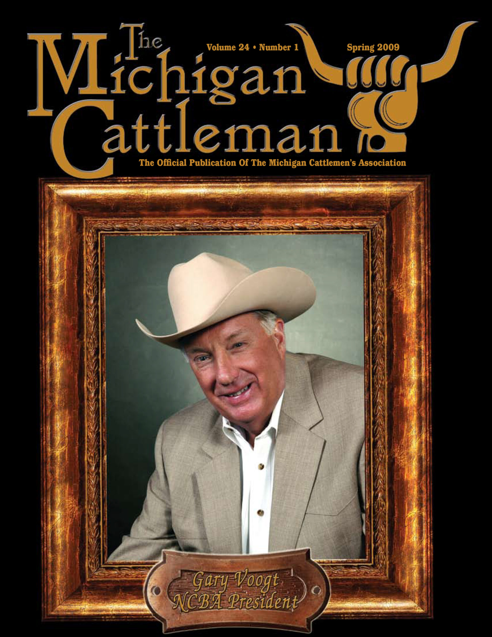 Gary Voogt in The Michigan Cattleman cover