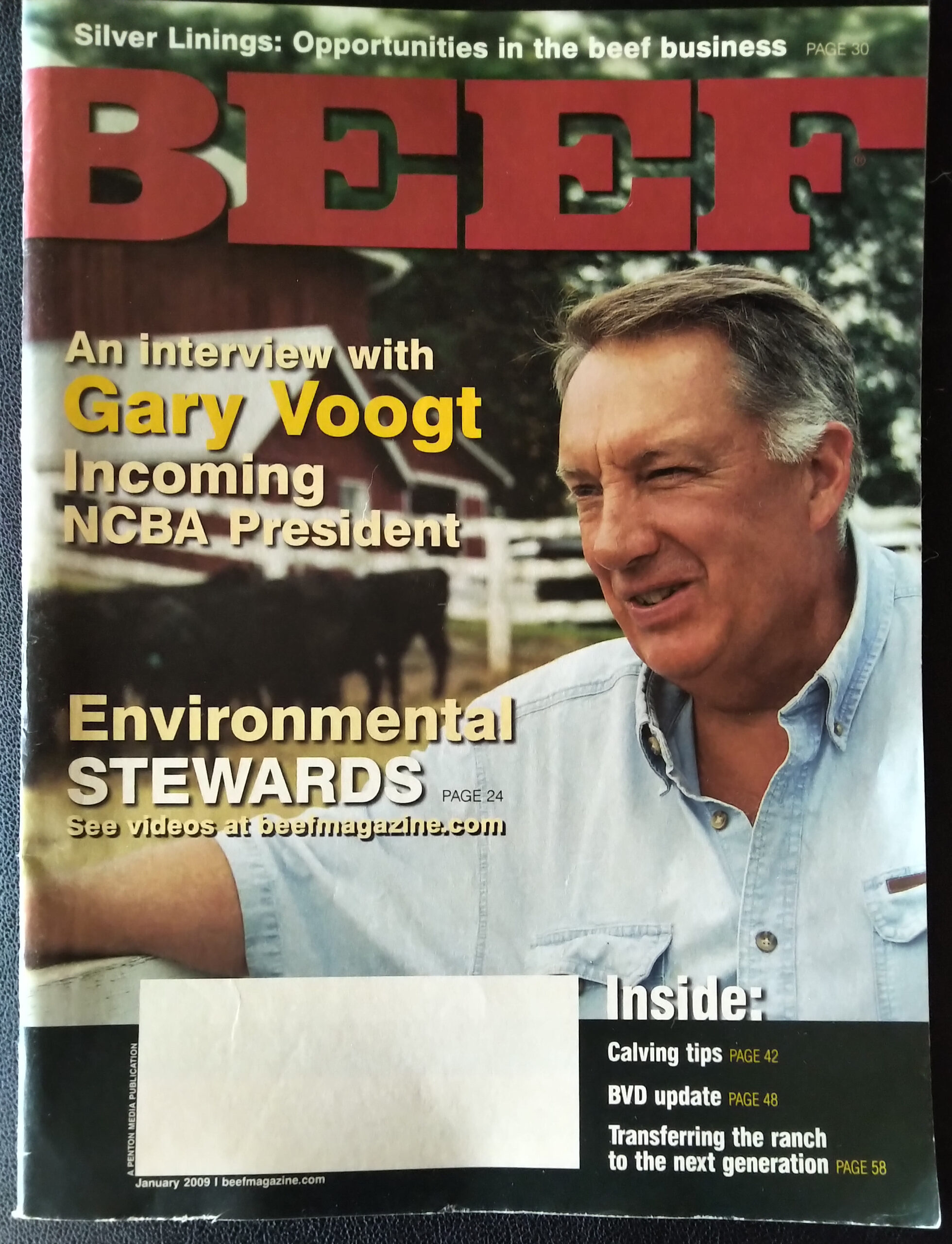 Gary Voogt on the cover of Beef